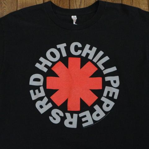 00s RED HOT CHILI PEPPERS Tシャツ L ブラック 半袖 ロゴ レッドホットチリペッパーズ レッチリ RHCP オフィシャル バンド ロック_画像1