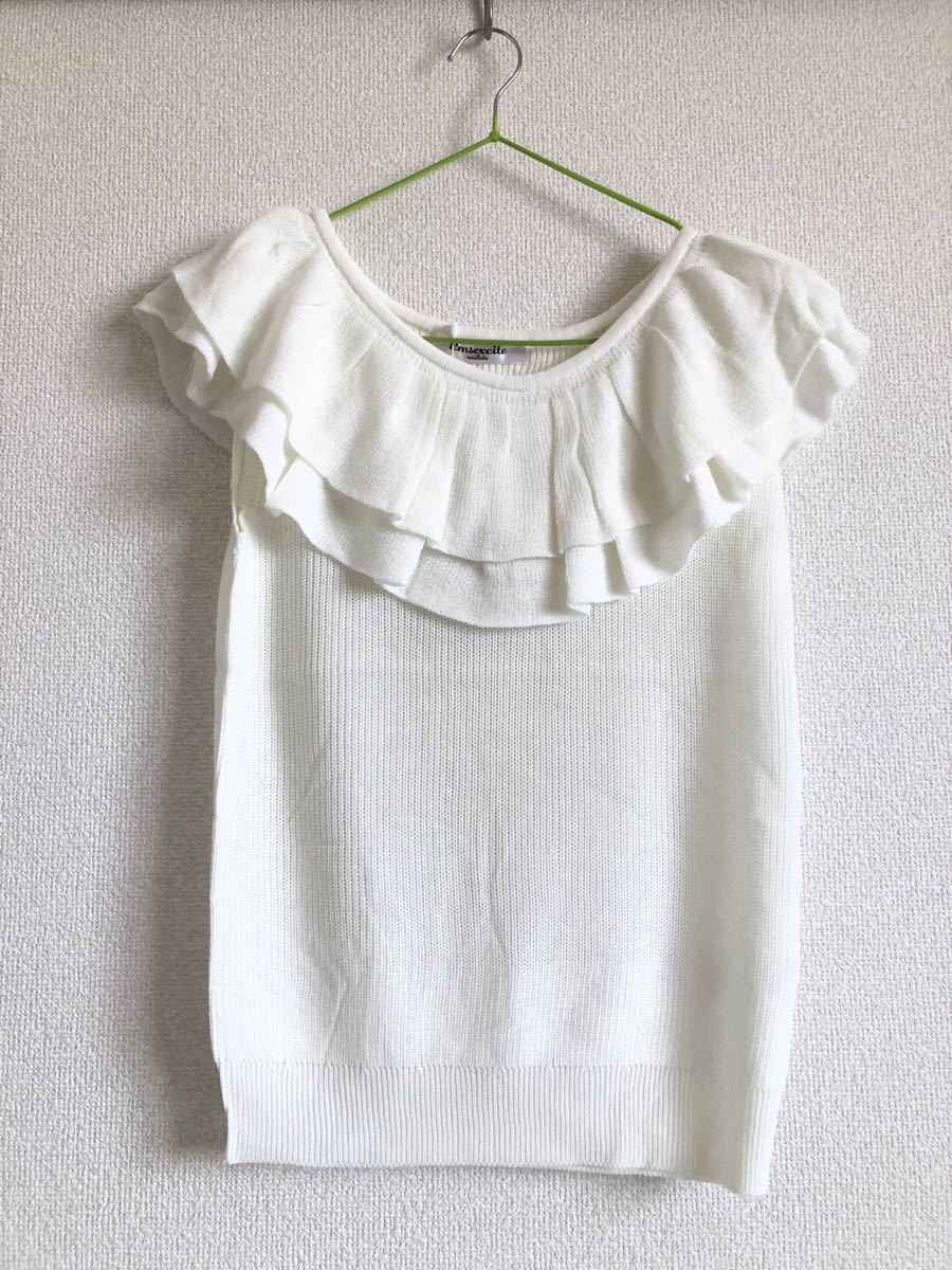 ノースリーブカットソー 新品  ノースリーブニット Tシャツ
