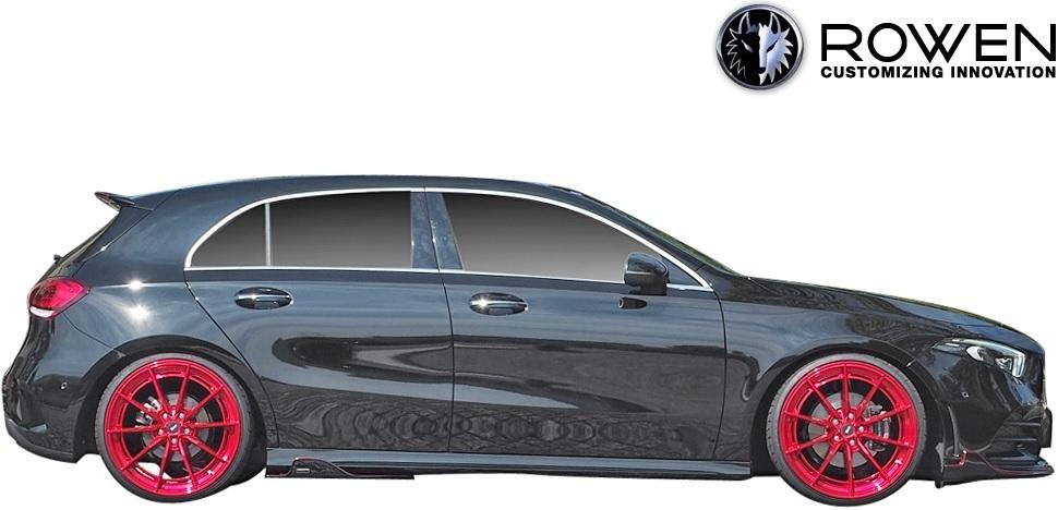 【M's】W177 Aクラス AMGライン ( 2018.10- ) ROWEN フルエアロ 3点 // FRP 未塗装 ロェン ロウェン ローエン エアロパーツ エアロキット_画像2
