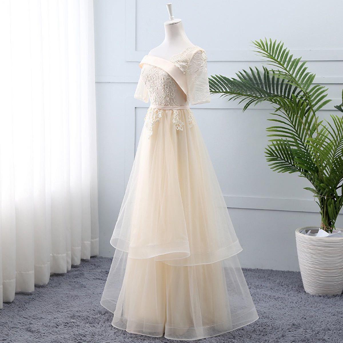 パーティードレス 結婚式 ドレス ワンピース 袖あり ロングドレス