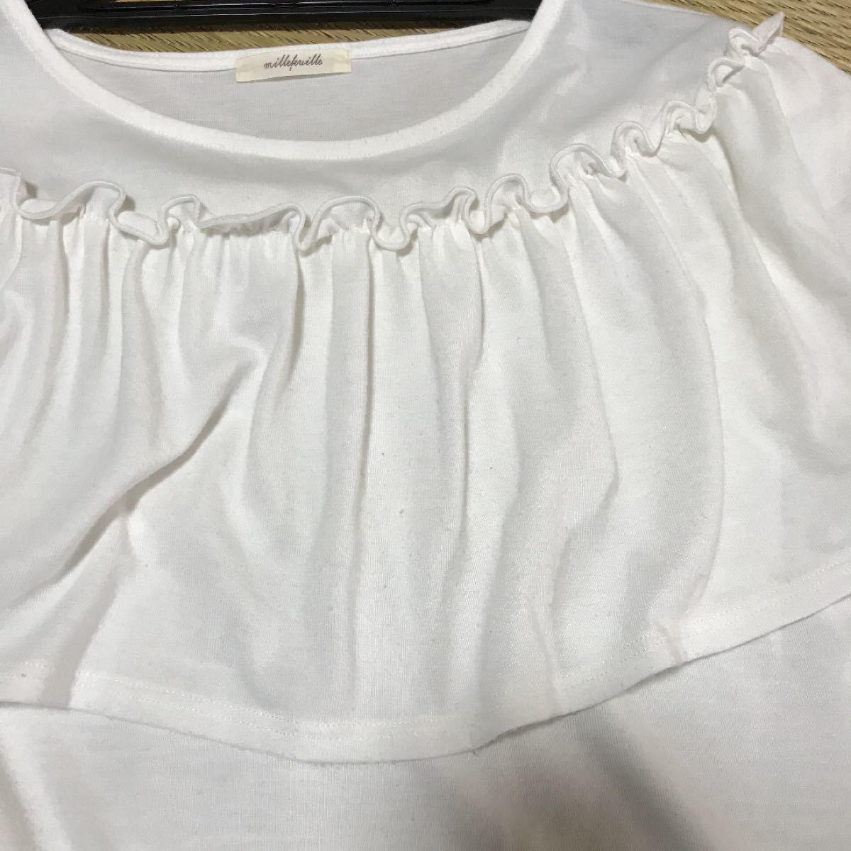chocol raffine robe フリル Tシャツ カットソー Fサイズ