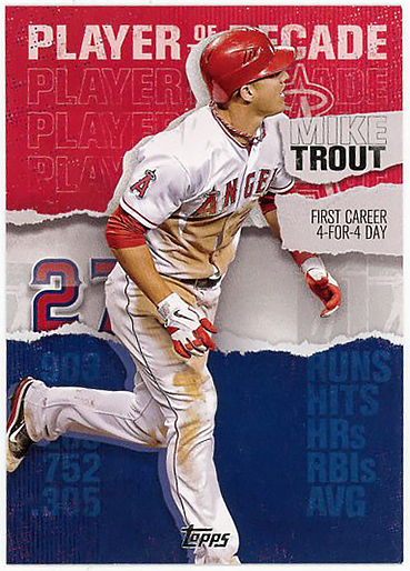 ANGELS外野▲MIKE TROUT最新2020 TOPPS2 PLAYER OF THE DECADEインサートMT-3!
