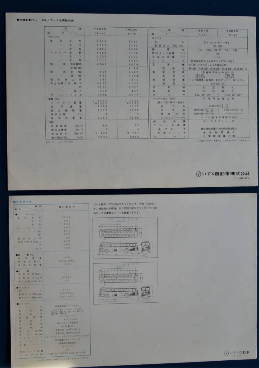【旧車カタログ】いすゞディーゼルトラック・高速観光バス 2枚(昭和42・44年)_画像9