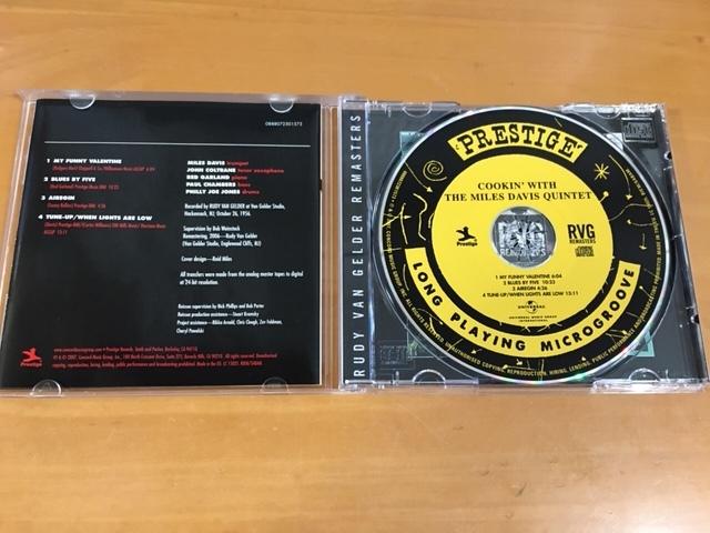 CD マイルス・デイヴィス『COOKIN' With The Miles Davis Quintet/PRESTIGE 7094』[Jazz Trumpet/ ジャズ トランペット]_画像3