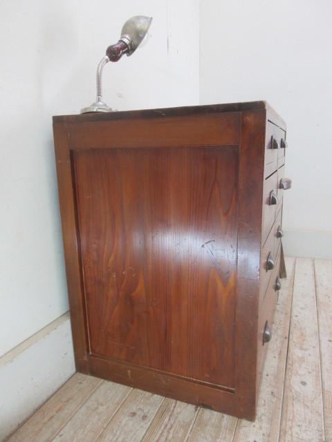 古い木味の7杯引き出しI324  アンティーク収納棚書類棚店舗什器カフェ什器古家具無垢材_画像5