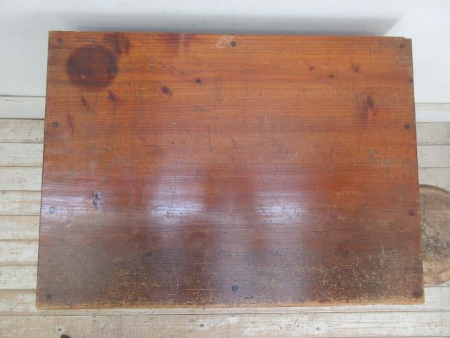 古い木味の7杯引き出しI324  アンティーク収納棚書類棚店舗什器カフェ什器古家具無垢材_画像4