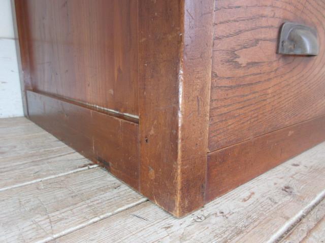 古い木味の7杯引き出しI324  アンティーク収納棚書類棚店舗什器カフェ什器古家具無垢材_画像7