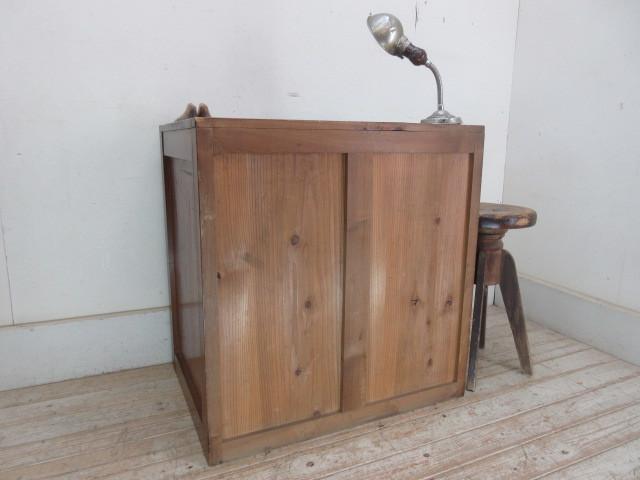 古い木味の7杯引き出しI324  アンティーク収納棚書類棚店舗什器カフェ什器古家具無垢材_画像9