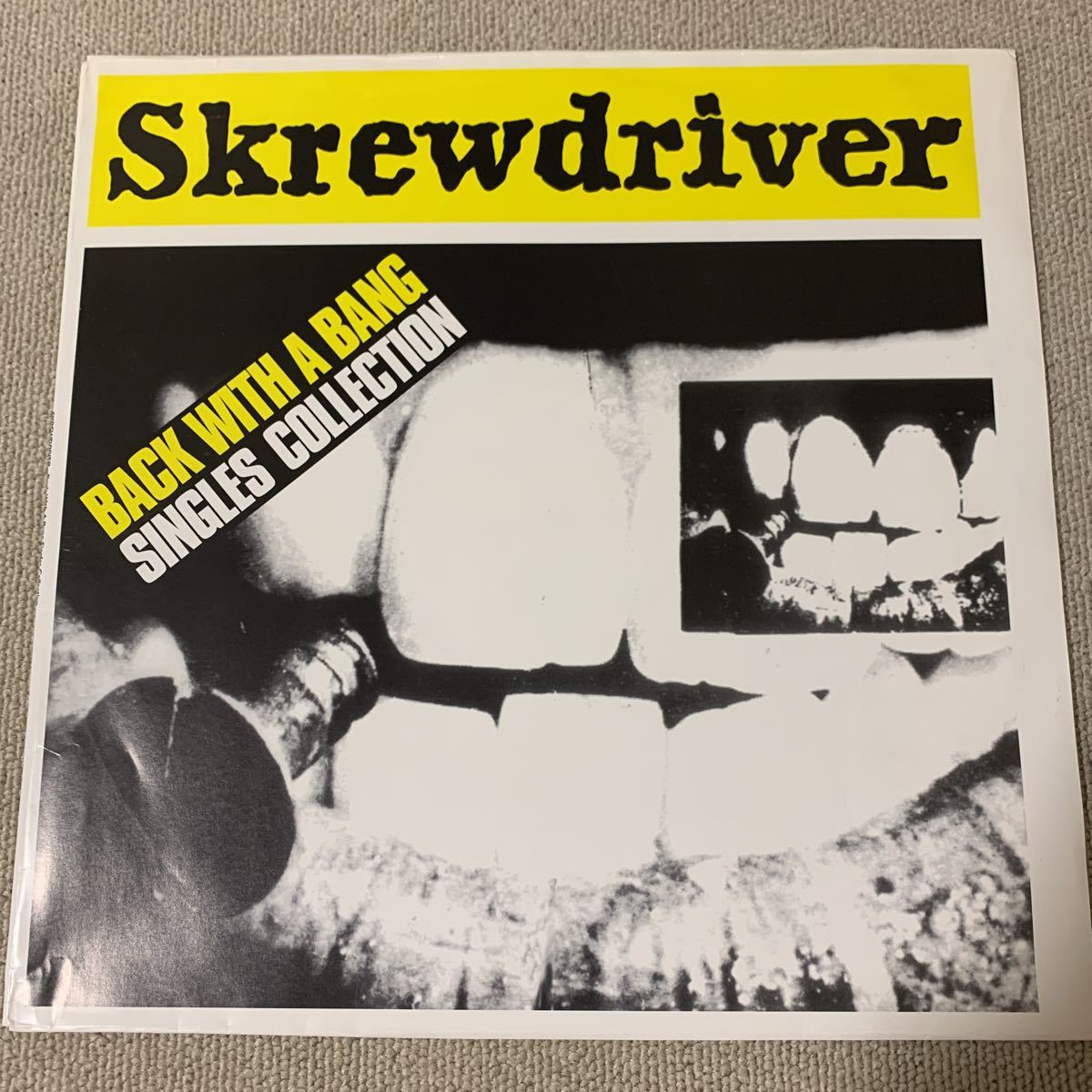 Skrewdriver back with a bang singles collection LP oi skins skinhead shuffle baws bad vultures determinations gruesome cobra lrf_画像1