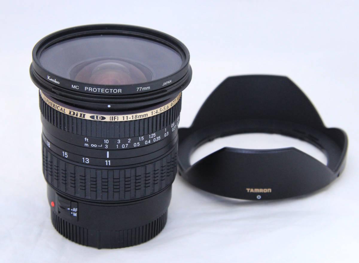 超広角★キャノン Canon EOS用 タムロン AF 11-18mmF4.5-5.6 DiⅡ (Model A13)良品