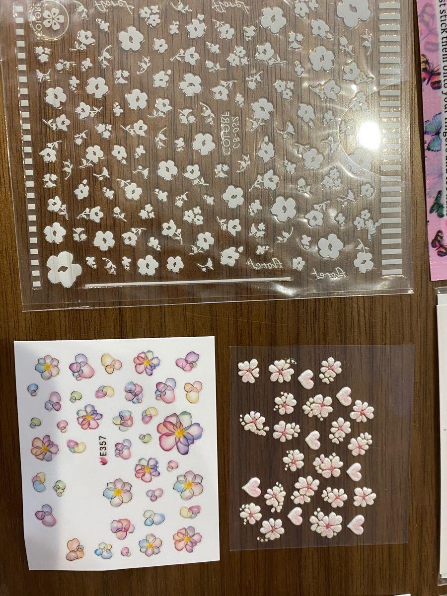 ネイルシール ネイルデコ まとめ売りマリメッコ 花柄