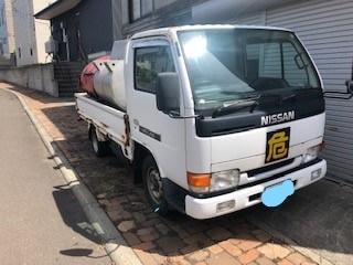 「平成8年 アトラス 灯油タンク車 990L  ガソリン車・エアコン付き 5F 抹消済み」の画像1
