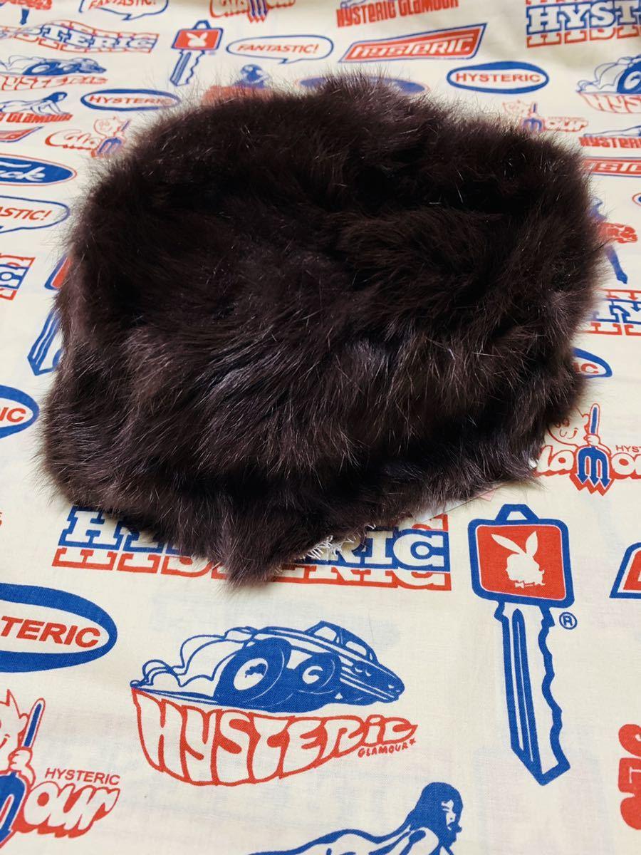 snidel ラビットファー 帽子 スナイデル 新品タグ付き メーテル帽 ティペット フォックスファー キャップ ニット帽 毛皮 リアルファー