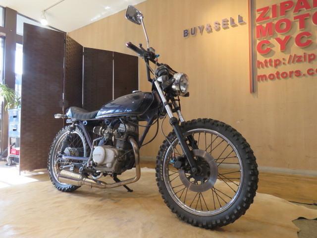 「□HONDA CB50S AC02 ホンダ 29530km 75cc パープルメタリック 実動! フリスコチョッパー風カスタム バイク 札幌発」の画像3