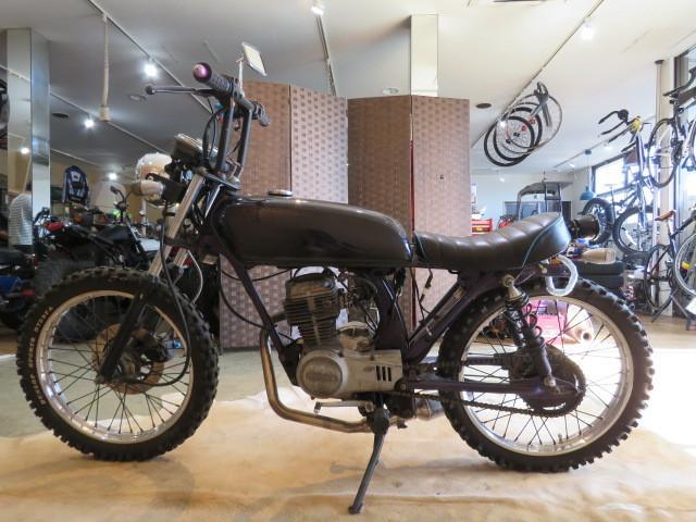 「□HONDA CB50S AC02 ホンダ 29530km 75cc パープルメタリック 実動! フリスコチョッパー風カスタム バイク 札幌発」の画像2