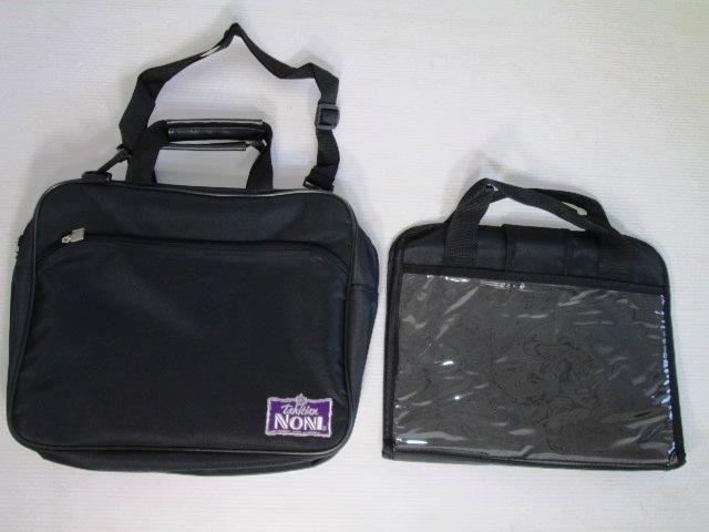 【美品!】 ★ Tahitian NONI / タヒチアン ノニ ★ ビジネスバッグ 黒 ショルダー バッグインバッグ付き