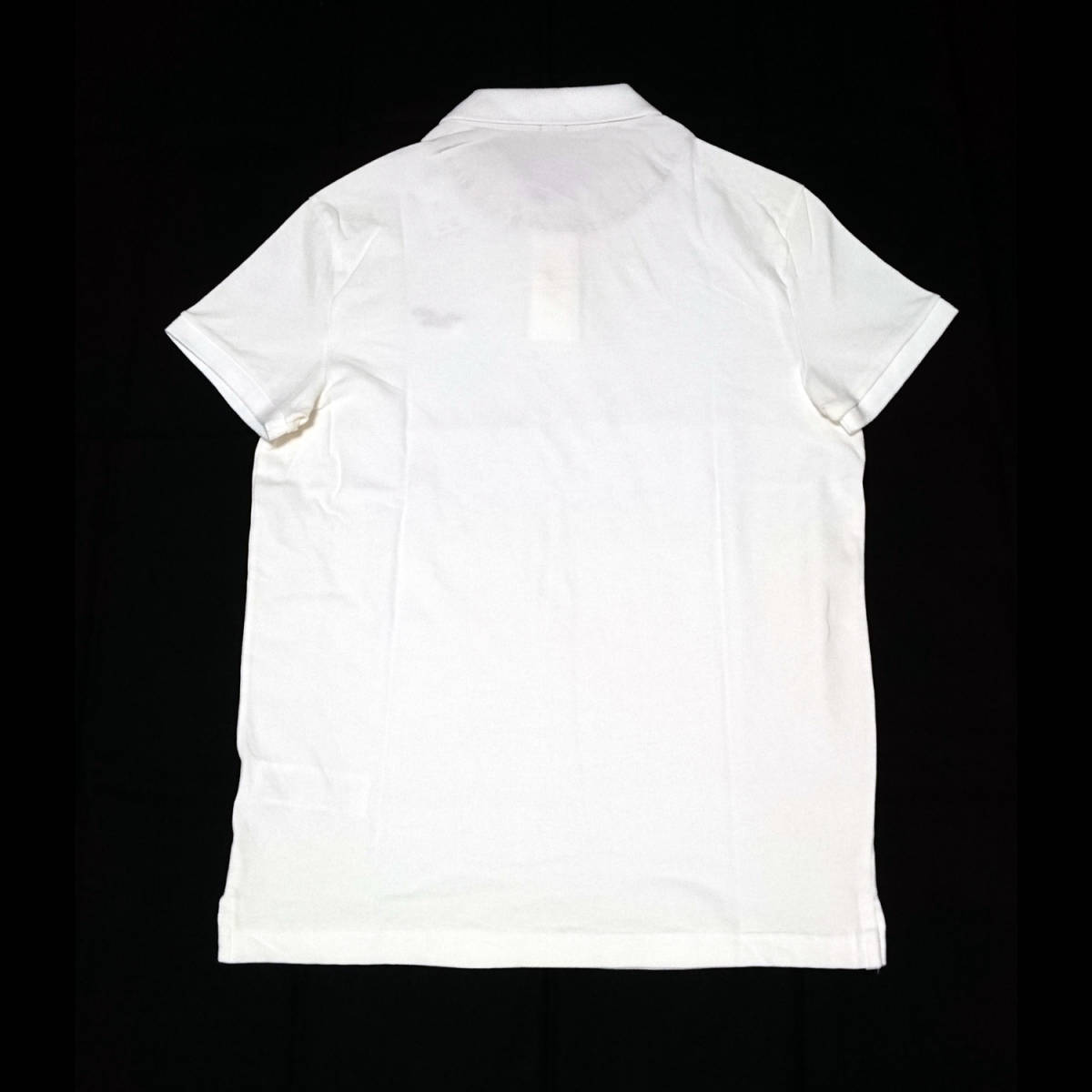 Hollister ホリスター 半袖ポロシャツ カノコ 胸ロゴ ワンポイントロゴ 刺繍 ホワイト Sサイズ(USサイズ) 新品