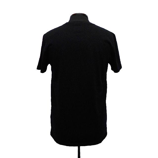 アバクロンビー&フィッチ アバクロ A&F 半袖Tシャツ カットソー クルーネック アップリケ ロゴ 刺繍 ブラック Sサイズ(USサイズ) 新品