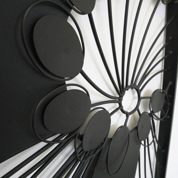アイアンウォールアートパネル「フラワー」壁飾りインテリア壁掛け玄関ウォールデコモダン雑貨リビング(1094)_画像5