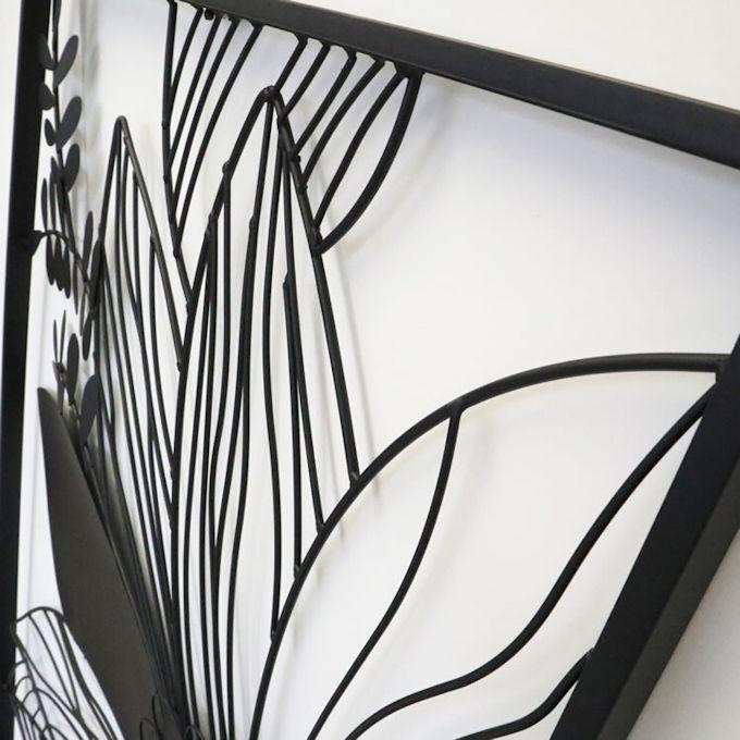 アイアンウォールアートパネル「フラワー」壁飾りインテリア壁掛け玄関ウォールデコモダン雑貨リビング(1094)_画像6
