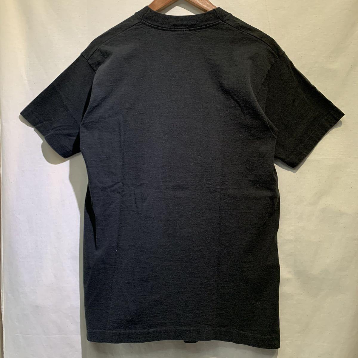 "90s Vintage アート ""NOEL DE MELLO"" フォト Tシャツ USA製 fruit of the loom 黒 ヴィンテージ / 古着 映画 ムービー バンド 80s"