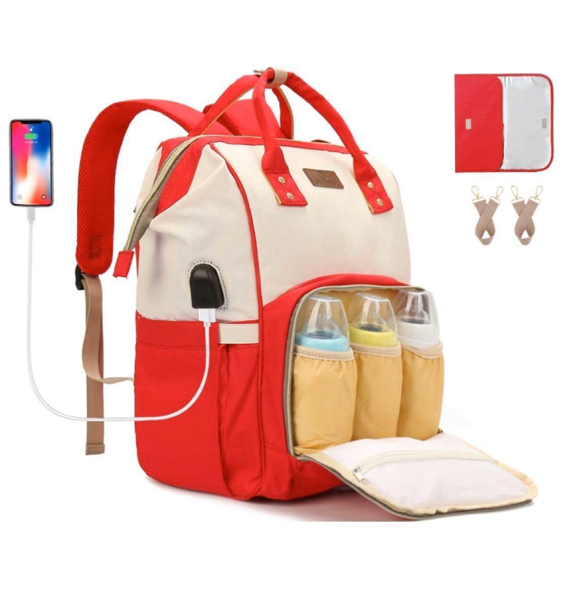 マザーズバッグ リュック 防水 ママバッグ 軽量 保温 ベビー用品 USB 新品