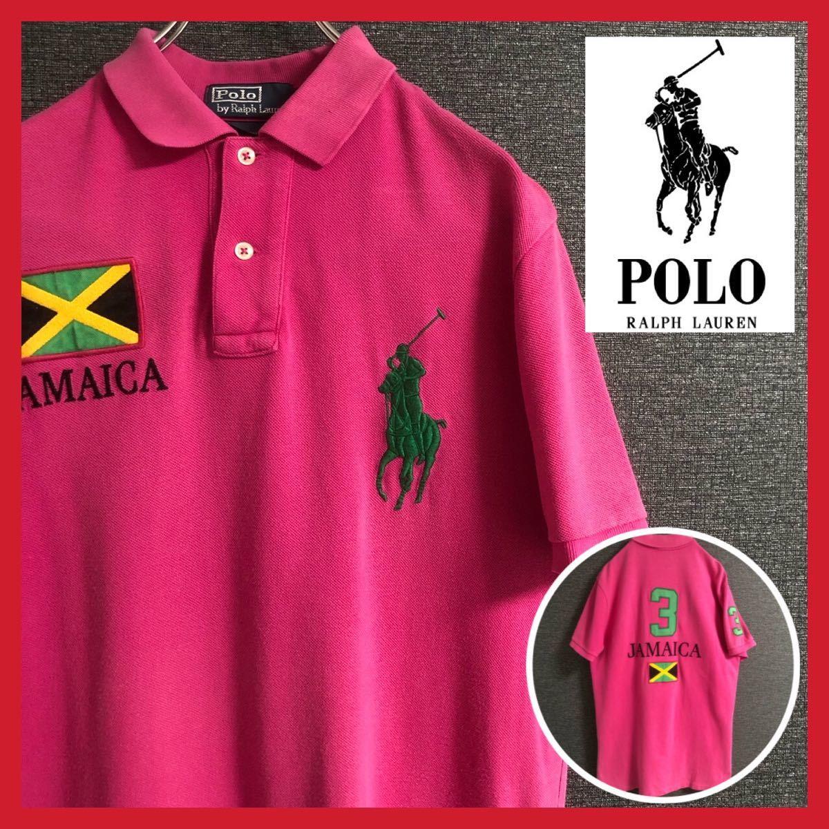 ポロラルフローレン ポロシャツ 半袖 メンズ ビッグポニー ロングテール 刺繍