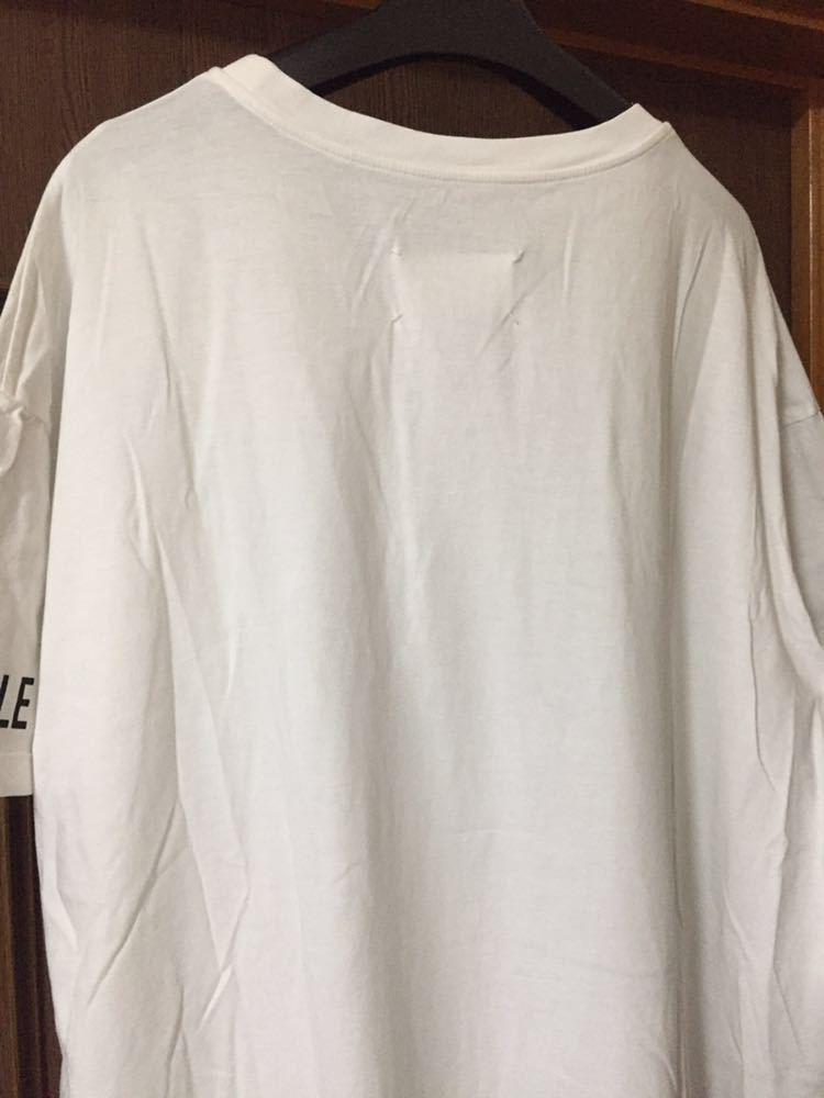 XS新品 メゾンマルジェラ オーバーサイズ Tシャツ ワンピース カットソー 白タグ 19SS XS Maison Margiela 1 マルタン レディース ホワイト