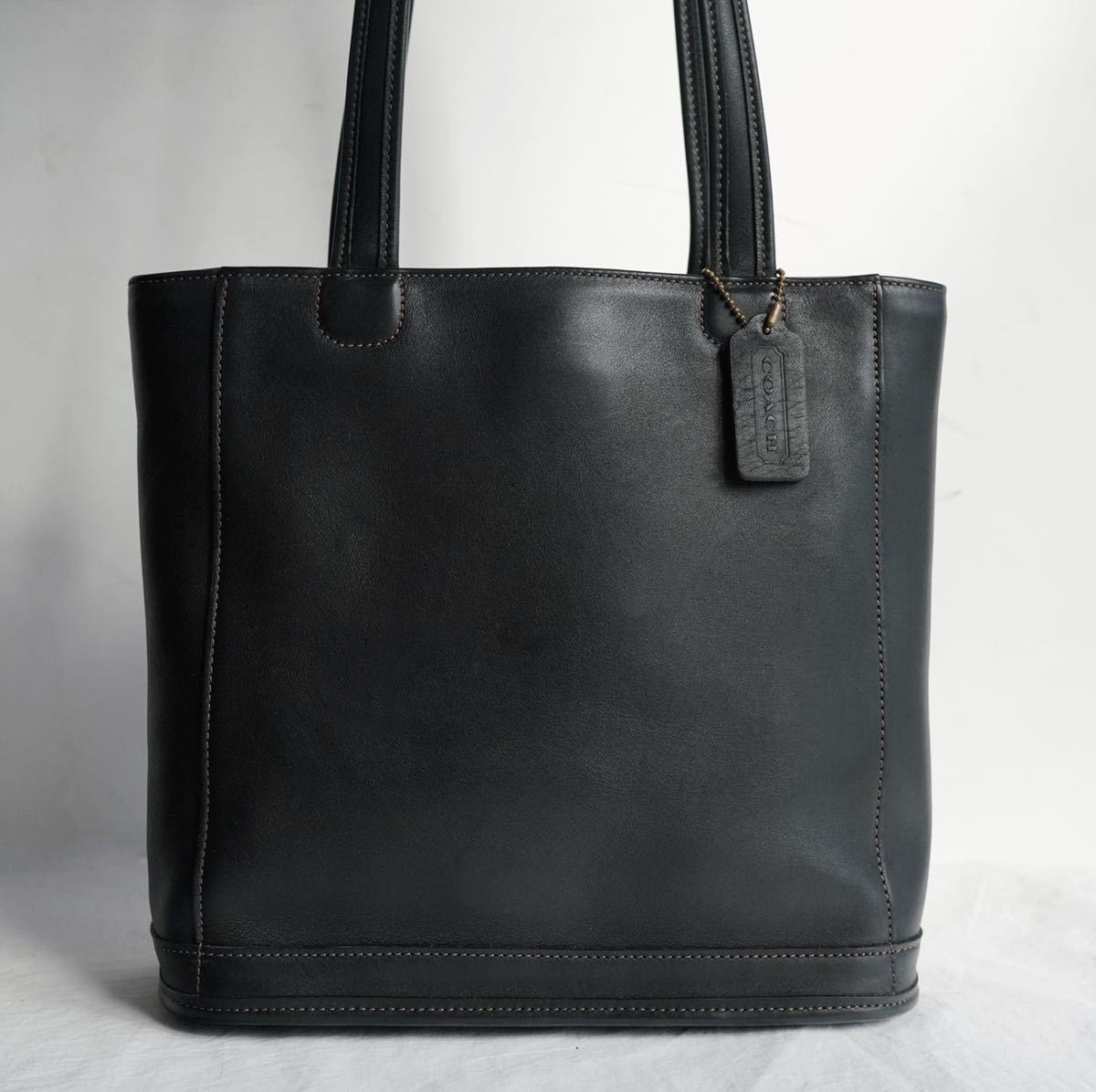 極美品 コーチ COACH トートバッグ バッグ ビジネスバッグ ブラック 黒 ブラック メンズバッグ 革 16万 オールドコーチ ビンテージ