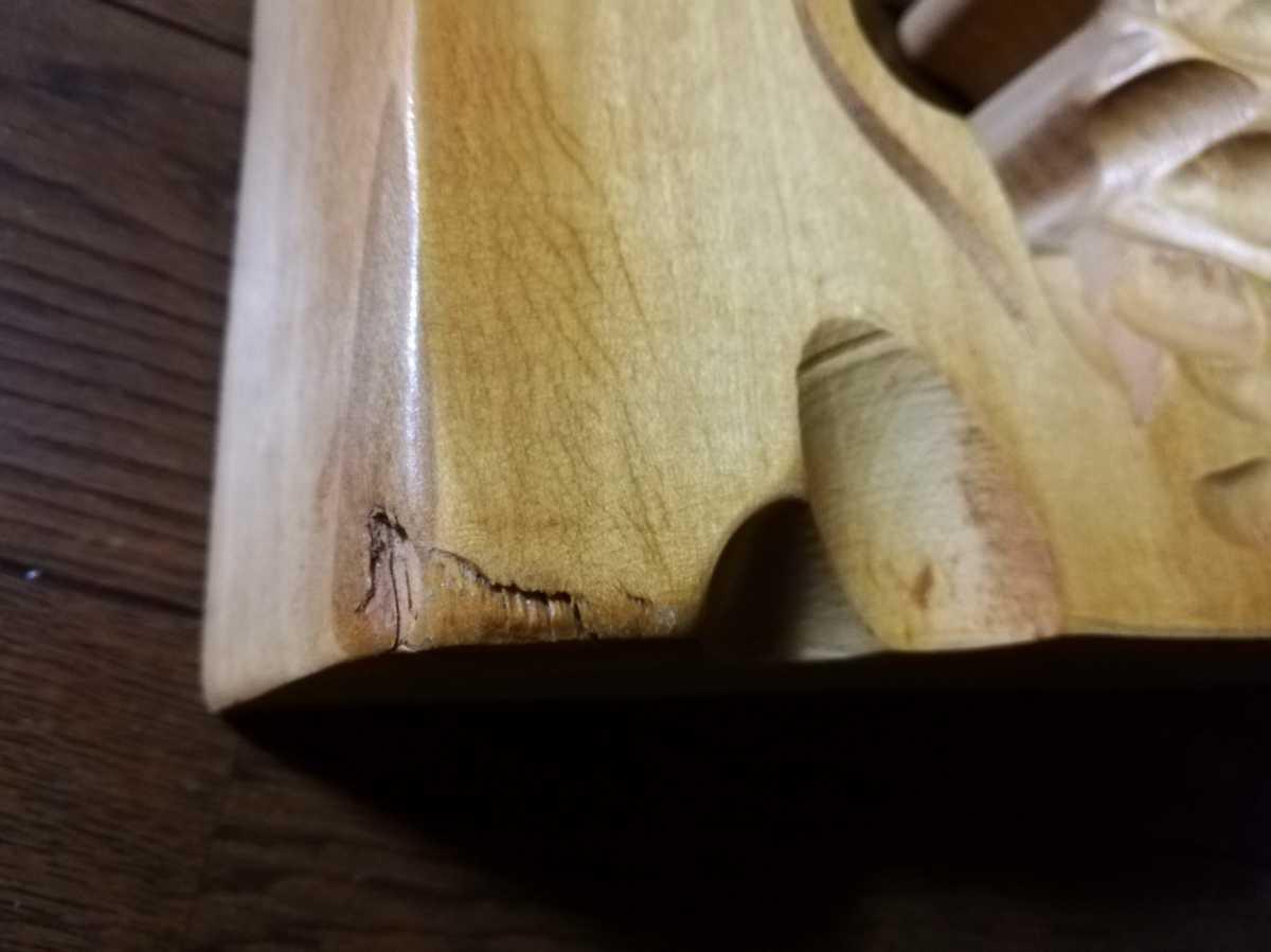 アイヌ 木彫り 壁掛け 木工 彫刻 レリーフ 工芸品 北海道民芸品_画像5