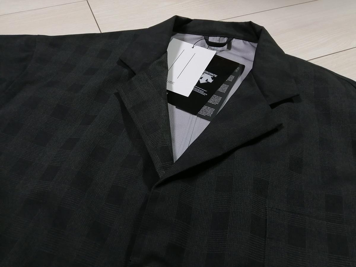◇新品 デサント ポーズ DESCENTE PAUSE グレンチェック ジャケット&パンツ 2B スーツ L 黒 定価62,700円 オーラリー AURALEE 送料無料