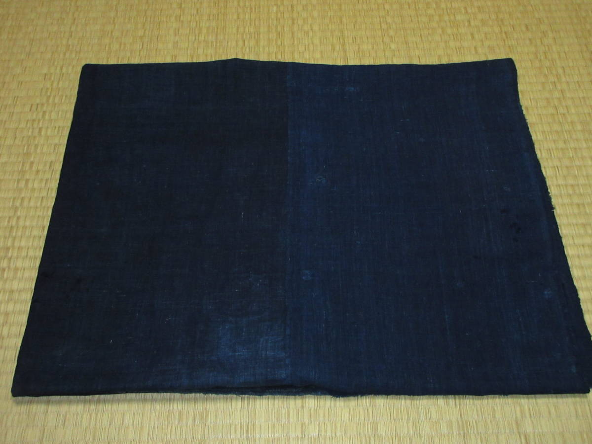 【昔古布】※明治~大正期頃 厚手の 藍染手織木綿 襤褸BORO 3幅 (長187) ●継ぎ接ぎ・刺子・ボロリメイク●_下部に多数の画像を掲載しています