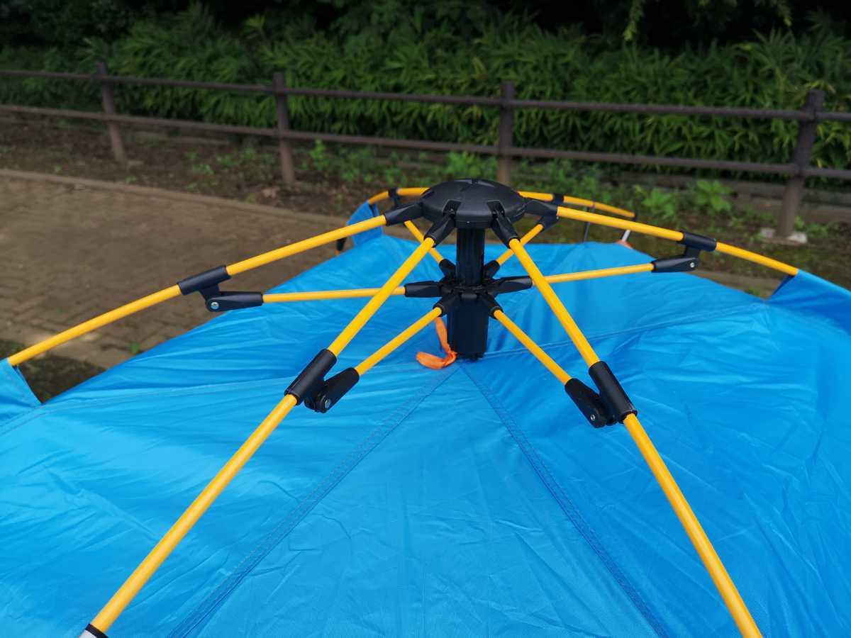 テント ビーチテント アウトドアテント 3人用 軽量 フルクローズ 蚊帳 防災 緊急 避難 災害 非常用
