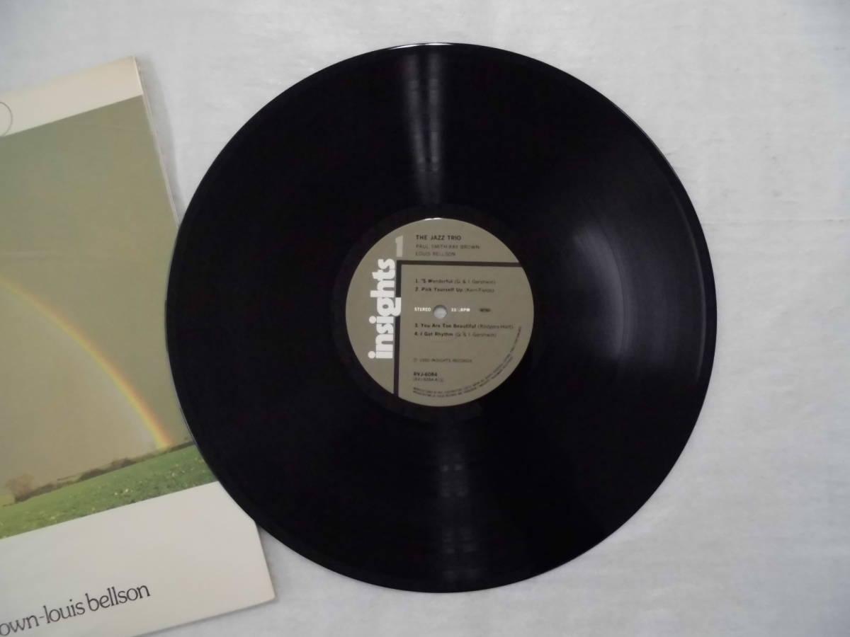 良盤屋J-1806◆LP◆Jazz ポール・スミス(5)、レイ・ブラウン、ルイス・ベルソン  The Jazz Trio >1980 送料380_画像6