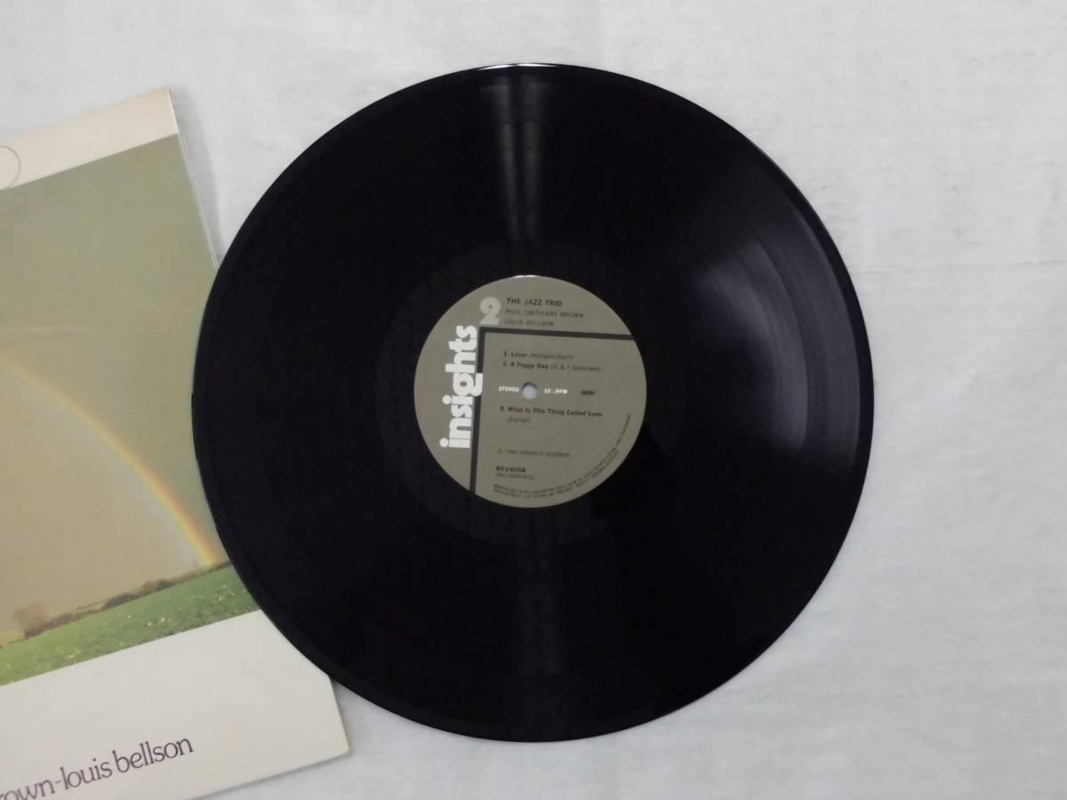 良盤屋J-1806◆LP◆Jazz ポール・スミス(5)、レイ・ブラウン、ルイス・ベルソン  The Jazz Trio >1980 送料380_画像8