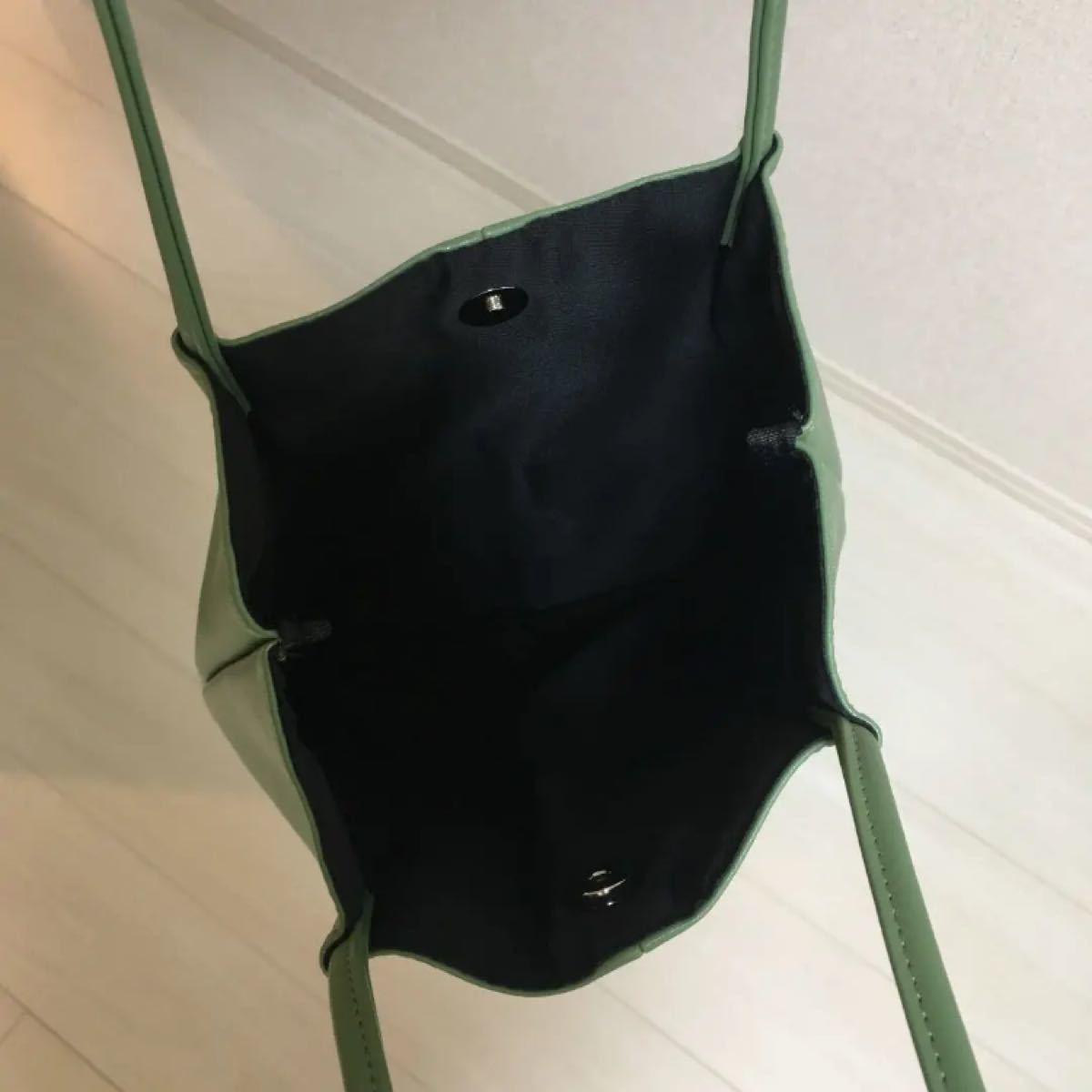 【ミニポーチ付き!】ピスタチオトートバッグ 新品未使用 グリーン トートバッグ