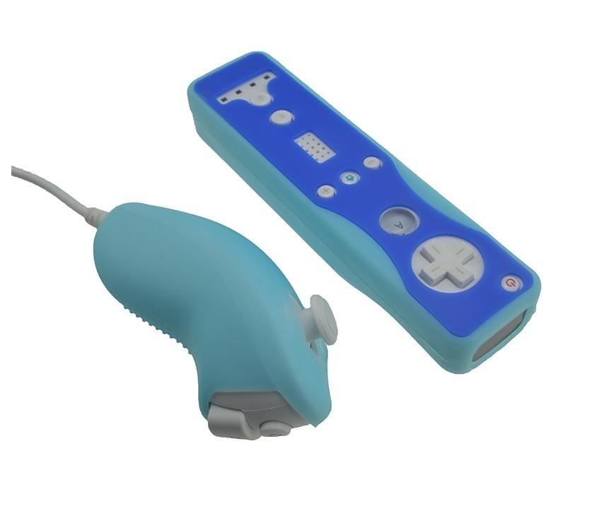 Wii カバー ヌンチャクとリモコンのカバー 青