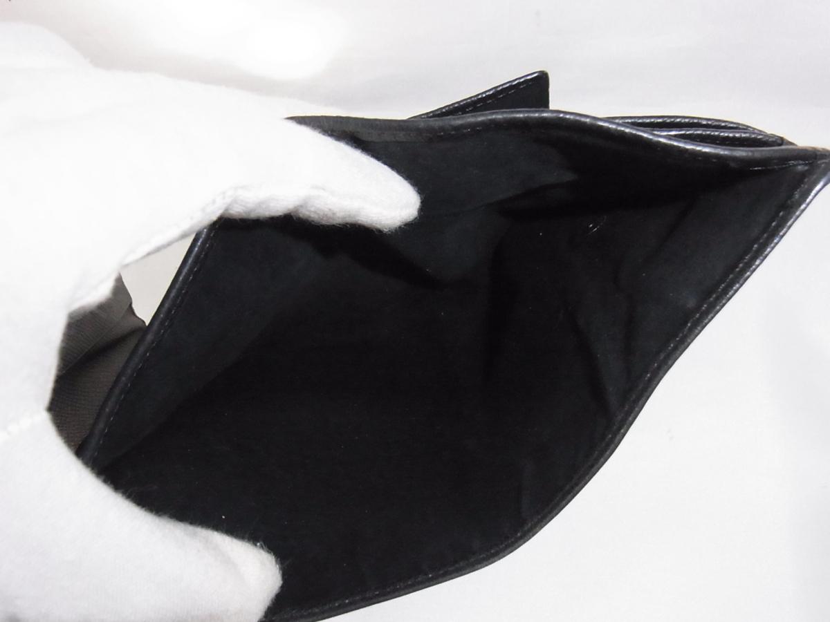 ヴェルサーチ VERSACE 三つ折りミドルサイズ長財布 メデューサ ブラック レザー 中古品_画像8