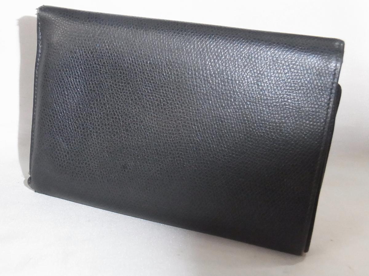 ヴェルサーチ VERSACE 三つ折りミドルサイズ長財布 メデューサ ブラック レザー 中古品_画像2
