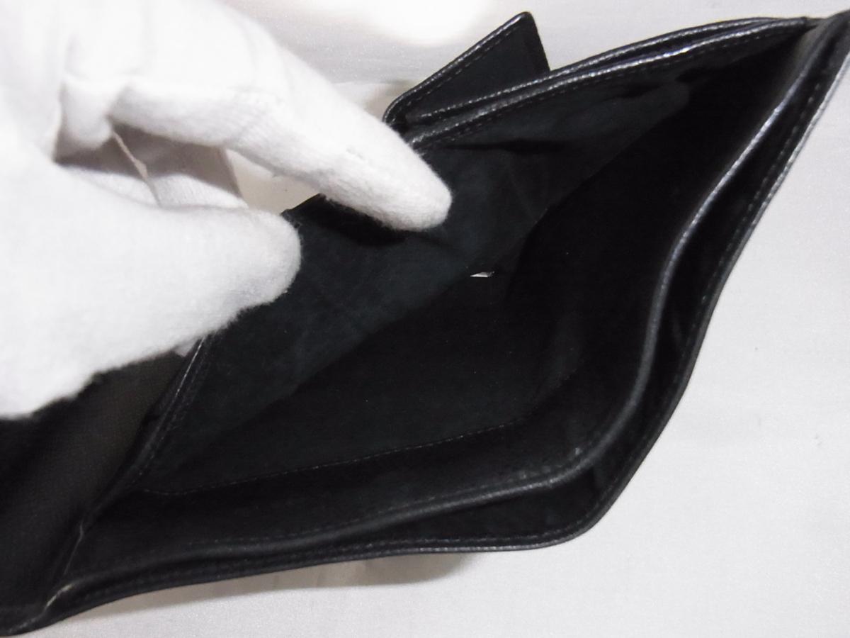 ヴェルサーチ VERSACE 三つ折りミドルサイズ長財布 メデューサ ブラック レザー 中古品_画像9