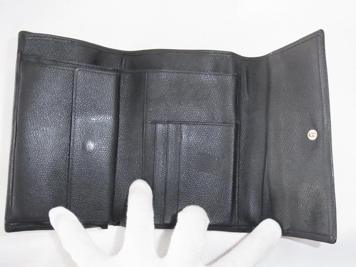 ヴェルサーチ VERSACE 三つ折りミドルサイズ長財布 メデューサ ブラック レザー 中古品_画像6