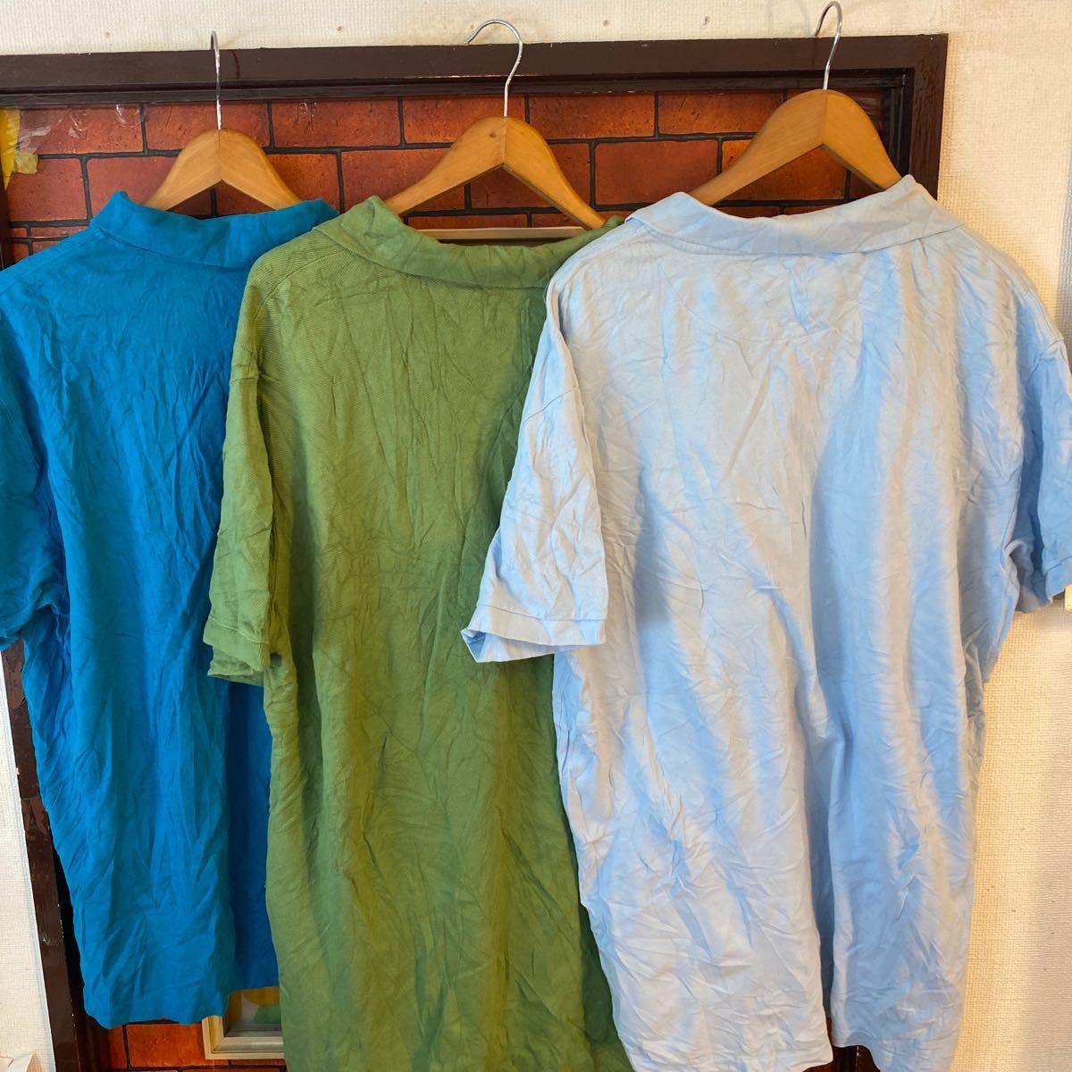 1円スタート ポロシャツ クールビズ まとめ売り 大量セット 6枚セット ワーク スタッフ アメリカ古着 XL _画像10