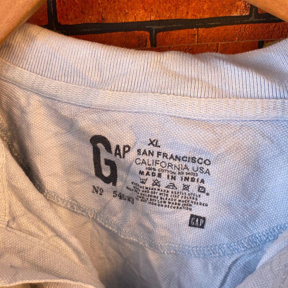 1円スタート ポロシャツ クールビズ まとめ売り 大量セット 6枚セット ワーク スタッフ アメリカ古着 XL _画像9