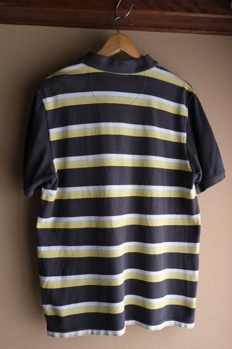 値下げ アディダス ポロシャツ 黄黒ポロシャツ ロンドン古着