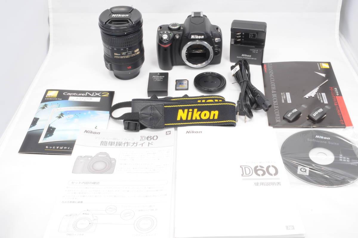 ショット極小 NIKON ニコン D60 レンズ 18-200 3.5-5.6 VR_画像1