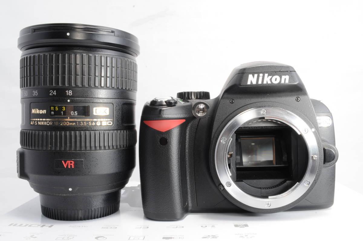 ショット極小 NIKON ニコン D60 レンズ 18-200 3.5-5.6 VR_画像5