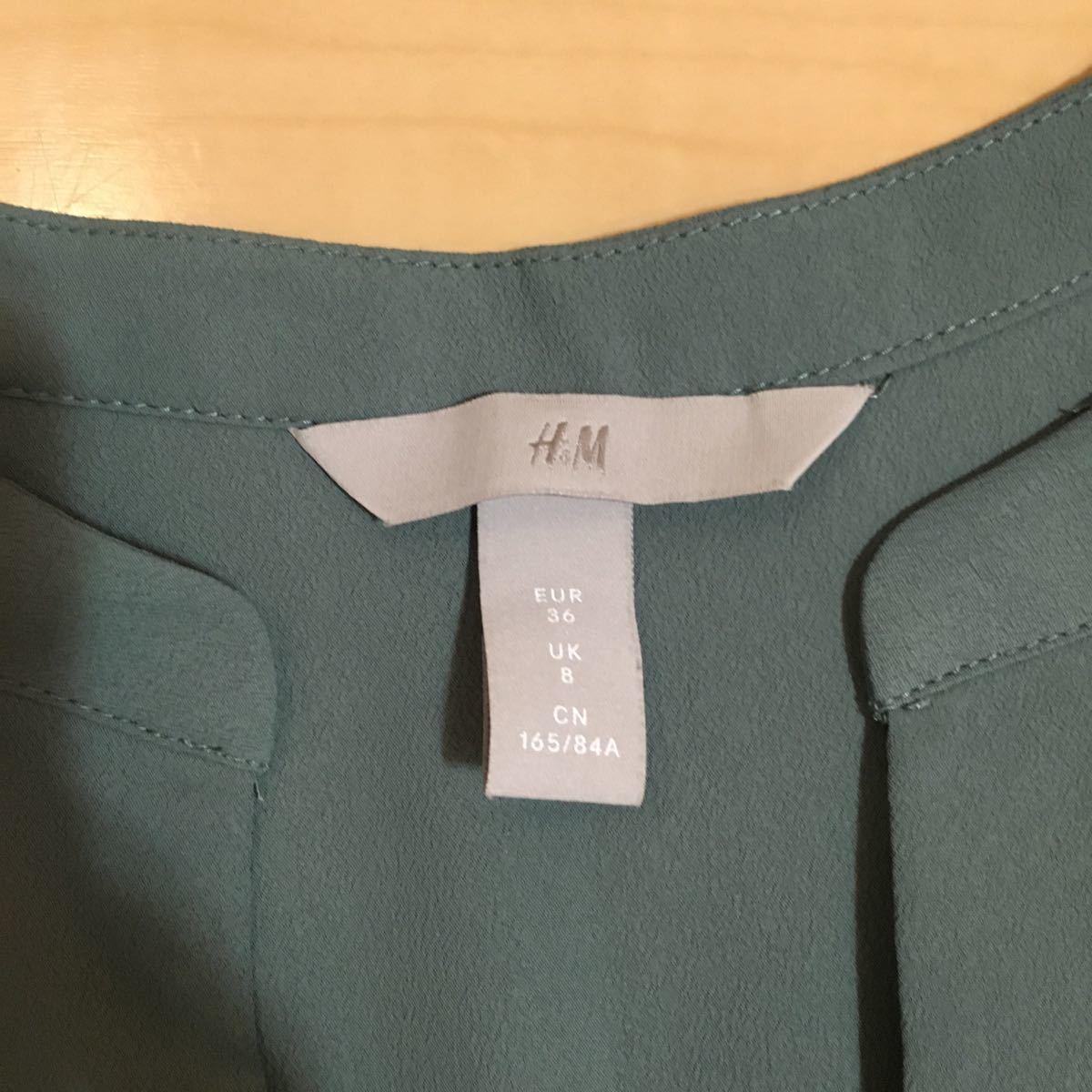 ノースリーブ トップス タンクトップ H&M カットソー  オフィス