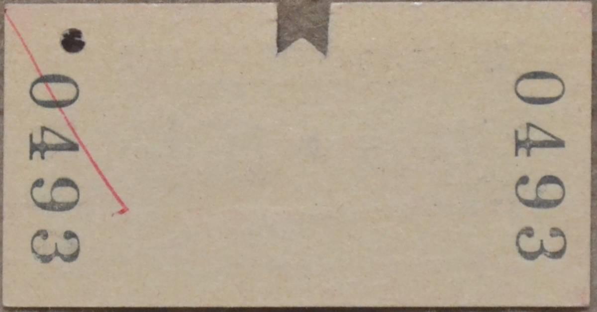 [送料別] 国鉄 新幹線自由席特急券「博多⇒広島」(A型硬券、入鋏) 昭56-2-28 0493_画像2