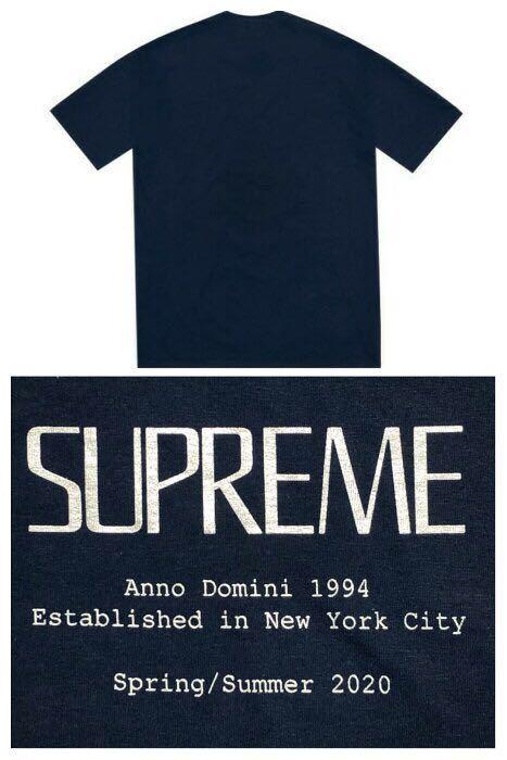 Supreme anno domini tee navy ネイビーL tシャツ シュプリーム ギャルソン/ nike north undercover box logo_画像2
