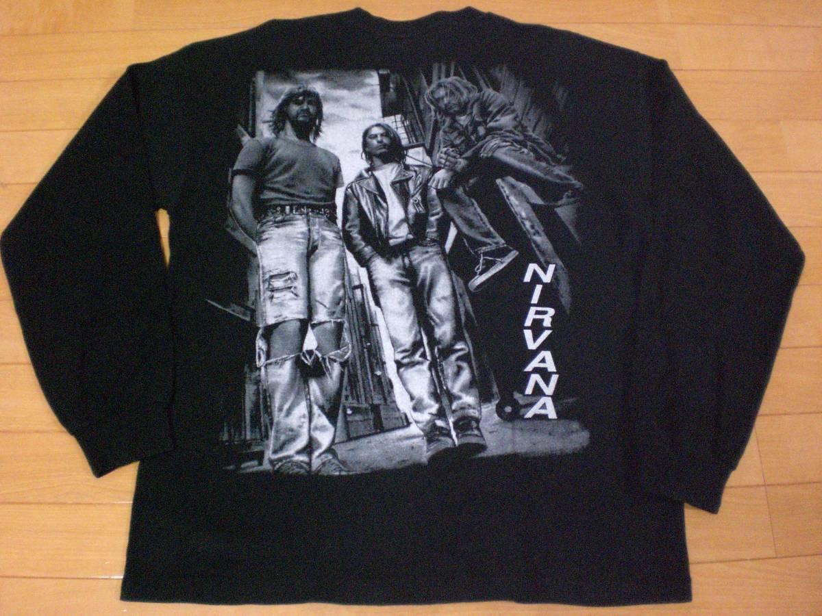 当時物 ビンテージ 90s NIRVANA ニルヴァーナ Tシャツ BEASTIE BOYS GUNS N ROSES METALLICA KISS ALICE IN CHAINS TAD MELVINS PARL JAM_画像2